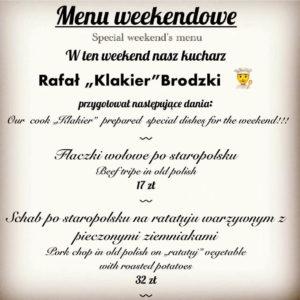Obiad w rynku we Wrocławiu menu