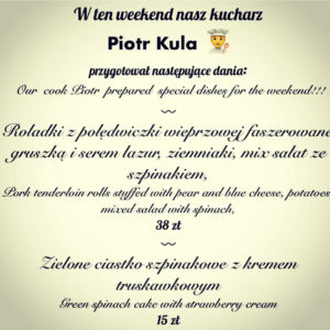 Specjalne menu restauracja w rynku Wrocław